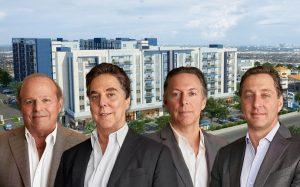 Rendering of Pura Vida Hialeah with Michael Wohl, Stephen A. Blumenthal, Victor Brown, and David Brown