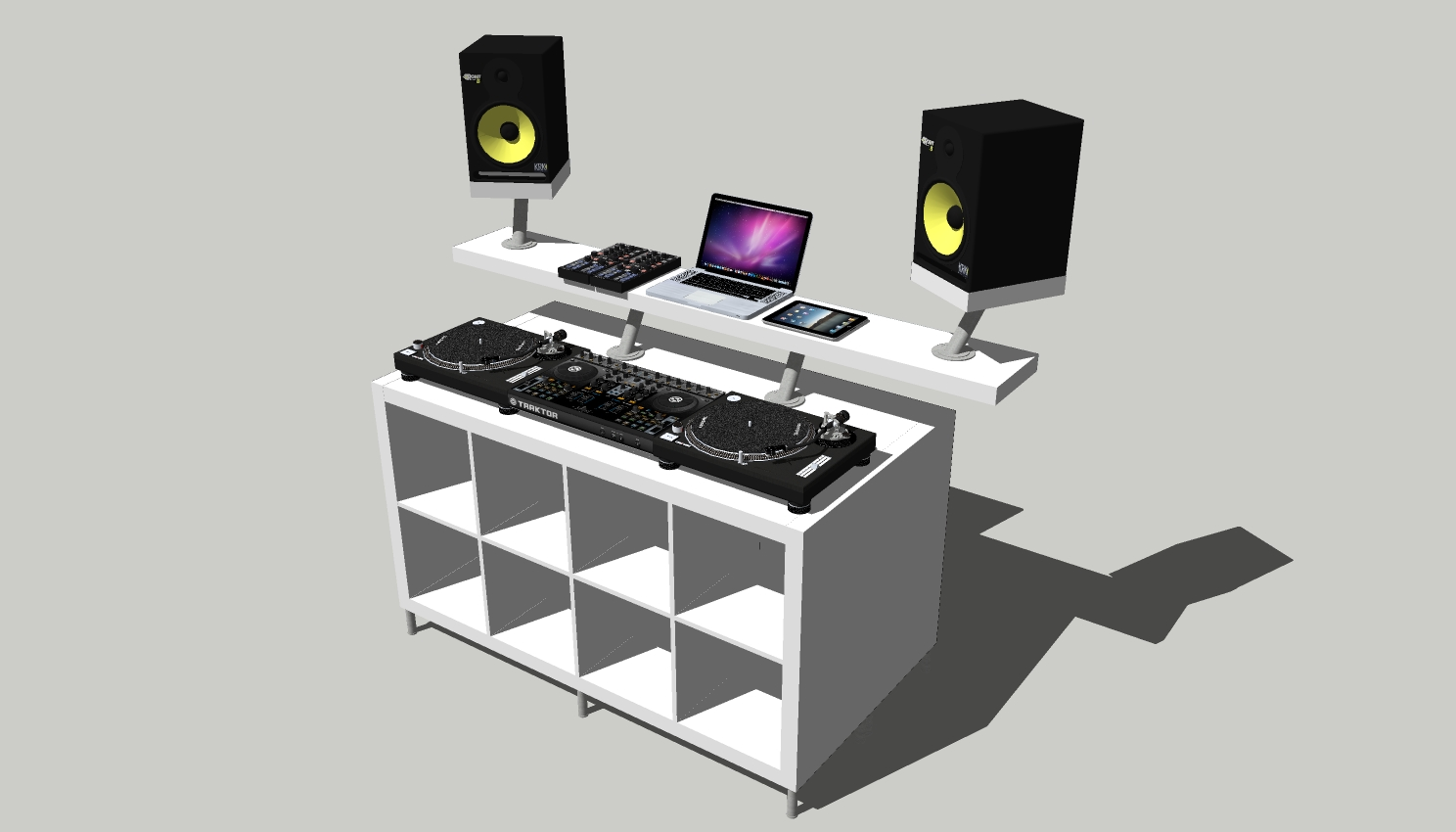 How To Create A Professional Dj Booth From Ikea Parts Dj