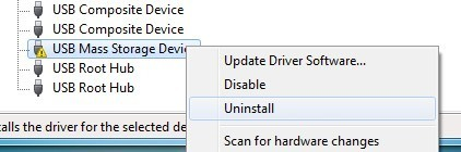 uninstall usb