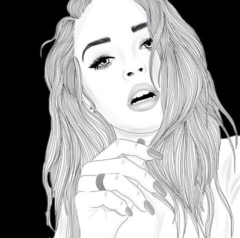 Cool Draw Girl Outlines Tumblr Image 3908806 By Modern Home Revolution
