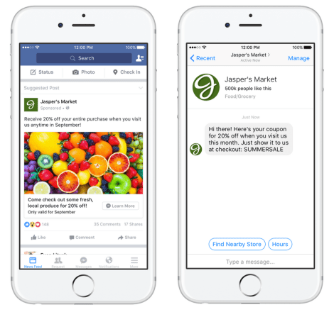 Facebook Messenger as a Destination for News Feed Ads