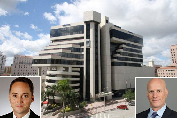 The 150 Alhambra office tower in Coral Gables, Collier's Steven Rutchik left and Jonathan Kingsley right