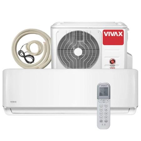Aer conditionat Vivax ACP-24CH70AERI R-Design Wi-Fi Ready, Kit de instalare inclus, Inverter, 24000 BTU/h, Clasa A++, Ionizator, I feel, Autodiagnoza, Autocuratare, Autodetectie scurgeri freon, filtru Bio, filtru Anti-Praf, ECO-Mode