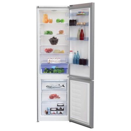 Combina frigorifica Beko RCSA400K30XB, 380 l, Clasa A++, Active Fresh Blue Light, Compartiment 0°-3°C, H 201 cm, Argintiu