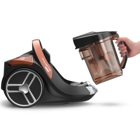 Aspirator fara sac Rowenta X-Trem Power RO7244EA, 550 W,Clasa A+, perie Mini Turbo, accesoriu multifunctional pentru masina, 2.5l, Negru/Portocaliu
