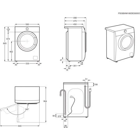 Masina de spalat rufe Slim Electrolux EW6S427W, PerfectCare600, 7 kg, 1200 RPM, Clasa A+++, 1200 rpm, LCD, Alb