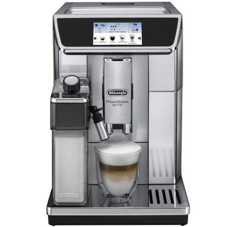 Espressor automat DeLonghi Primadonna Elite ECAM 650.75MS 1450 W, 15 bar, App, Argintiu