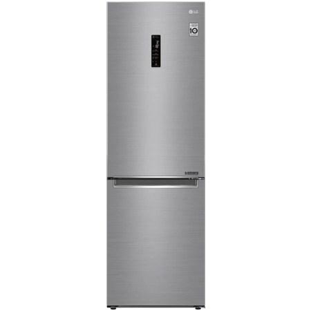 Combina frigorifica LG GBB61PZHZN, 341 l, Full NoFrost, Compresor Inverter Linear, Display Extern, Clasa A++, H 186 cm, Argintiu