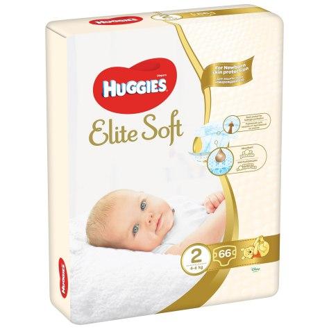 Scutece Huggies Elite Soft 2, 4 – 6 kg, 66 buc