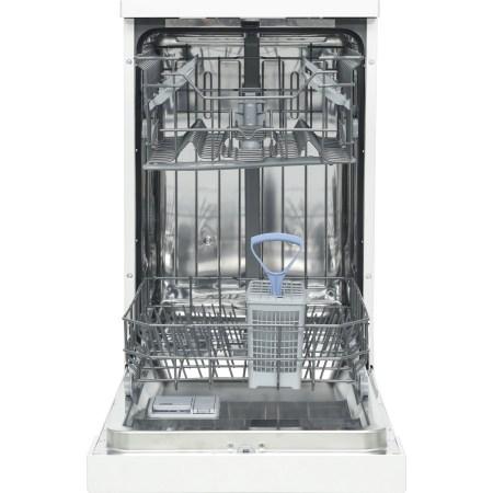 Masina de spalat vase Heinner HDW-FS4505WA++, 10 seturi, 5 programe, Clasa A++, Control electronic, 45 cm, Alb