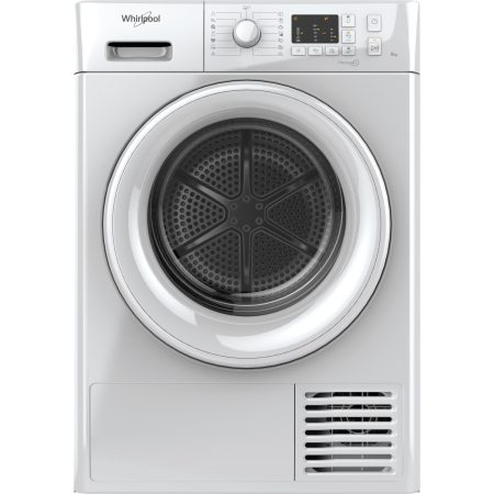 Uscator de rufe Whirlpool FreshCare+ FTCM108BEU, Condensare, 8 kg, Clasa B, Display LED, Alb
