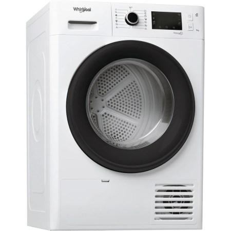 Uscator de rufe Whirlpool FreshCare+ FTM229X2BEU, Pompa de caldura, 9 kg, Clasa A++, Motor Inverter, 6th Sense, Display LCD, Alb