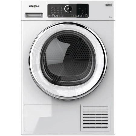Uscator de rufe Whirlpool Supreme Care STU92XEU, Pompa de caldura, 9 kg, Clasa A++, Motor Inverter, 6th Sense, Display digital, Alb