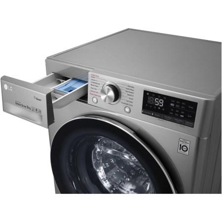 Masina de spalat rufe LG F4WN609S2T, 9 kg, 1400 RPM, Clasa A+++, Direct Drive, Turbo Wash, Steam, Smart Diagnoisis, WiFi, Argintiu