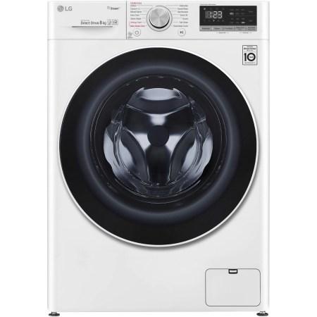 Masina de spalat rufe LG F4WN408S0, 8 kg, 1400 RPM, Clasa A+++, Spa Steam, Direct Drive, Smart Diagnosis, WiFi, Alb