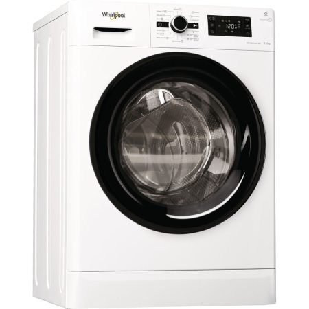 Masina de spalat rufe cu uscator Whirlpool FreshCare+ FWDG86148B EU, 1400 RPM, Spalare 8 kg, Uscare 6 kg, Clasa A, Motor SenseInverter, 6th Sense, Display digital, Alb