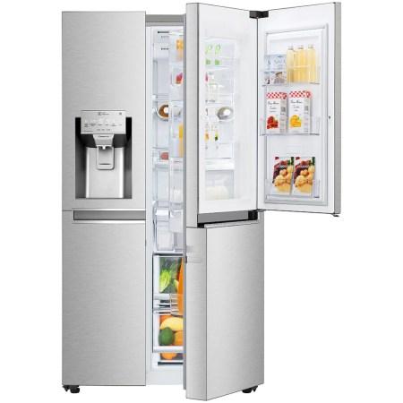 Side by side LG GSJ961NSVZ Door in Door, 601 l, Clasa A++, No Frost, Compresor Inverter Linear, Door Cooling, Inox