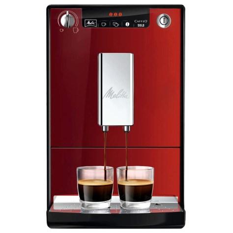 Espressor automat Melitta® Solo, 1400W, 15 bari, 1.2l, Rezervor boabe, Slim 20cm, Rosu