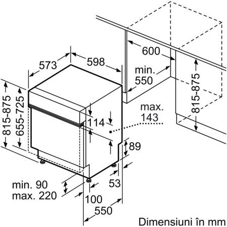 Masina de spalat vase incorporabila Bosch SMI46LS00E, 13 seturi, 6 programe, Clasa A++, 60 cm