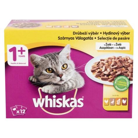 Hrana umeda pentru pisici Whiskas Multipack Selectii, Pasare, 12x100g