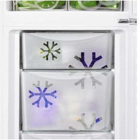 Combina frigorifica Zanussi ZNLN34FW2, 329 l, Clasa F, H 185 cm, Alb