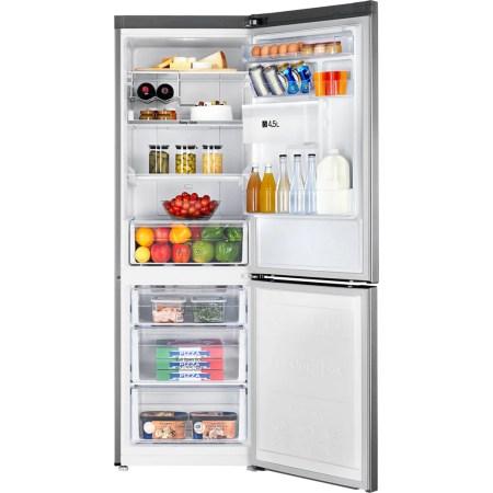 Combina frigorifica Samsung RB33J3830SA/EF, 321 l, Clasa A+, No Frost, Compresor Digital Inverter, Dozator apa, Display, H 185 cm, Metal Graphite