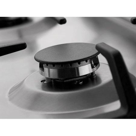 Plita incorporabila Hansa BHGI63112028, Gaz, 4 arzatoare, Arzator wok, Aprindere electrica, 60 cm, Inox