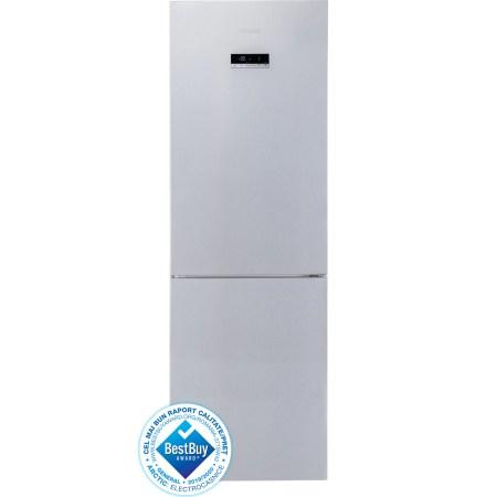 Combina frigorifica Arctic AK60355NFEMT+, 321 l, Clasa A+, No Frost, Fast Freeze XL Zone, Fresh Max 0°C, Display LCD, H 201 cm, Argintiu