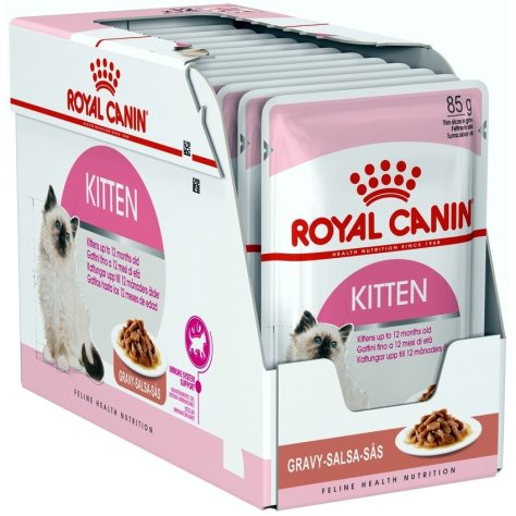 Hrana umeda pentru pisici Royal Canin, Kitten Instinctive, in sos, 12x85g