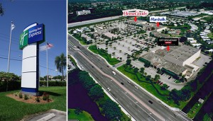 Lakeside Centre in Boca Raton and the Holiday Inn Express next door