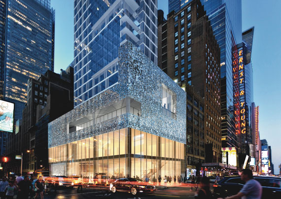 A rendering of the Dream Hotel Times Square by UAP North America