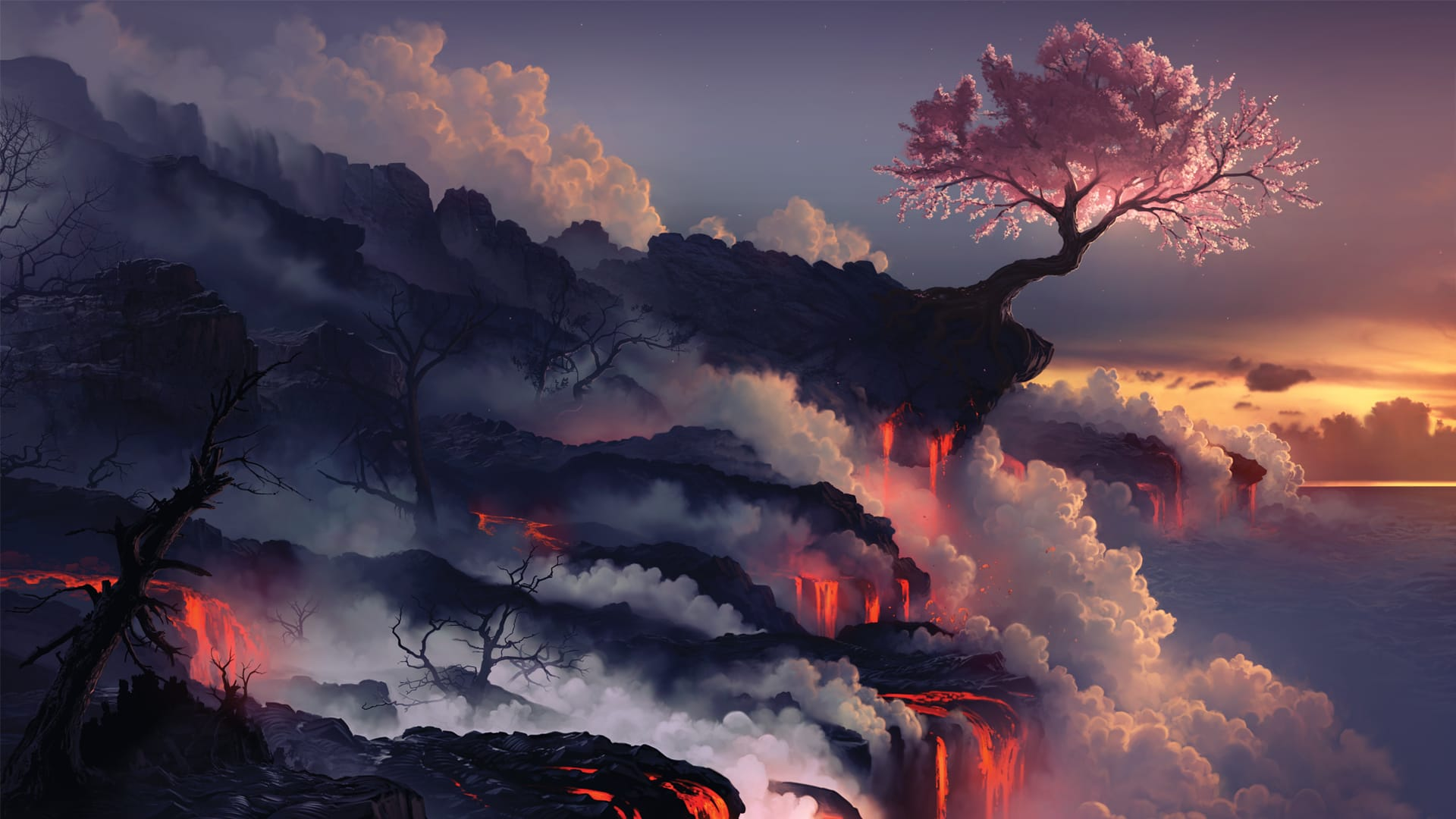 Scorched Earth Desktop Wallpaper by arcipello