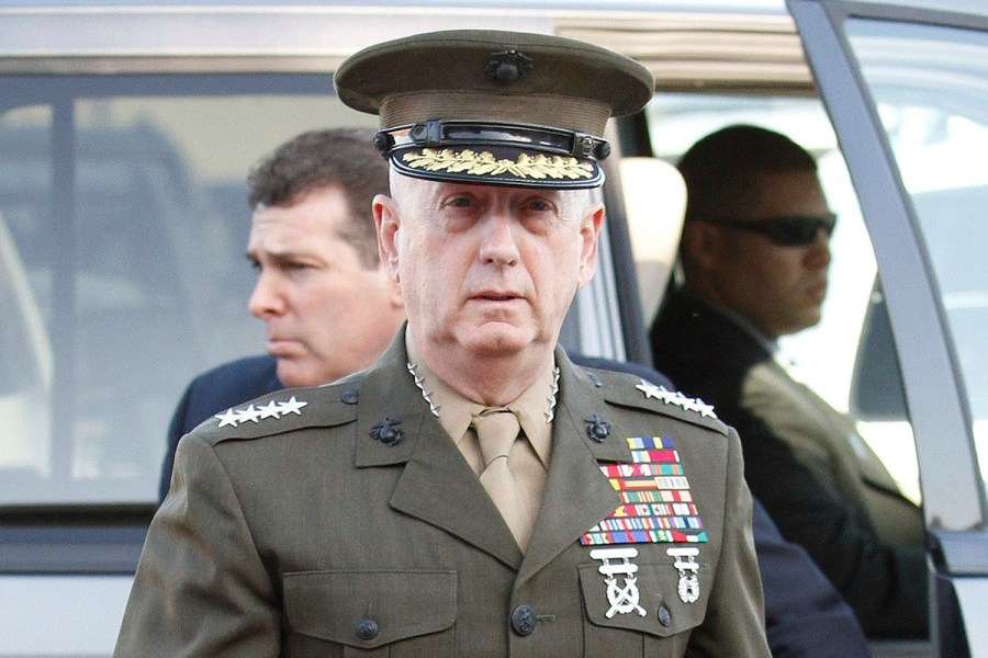 Jim Mattis in his uniform
