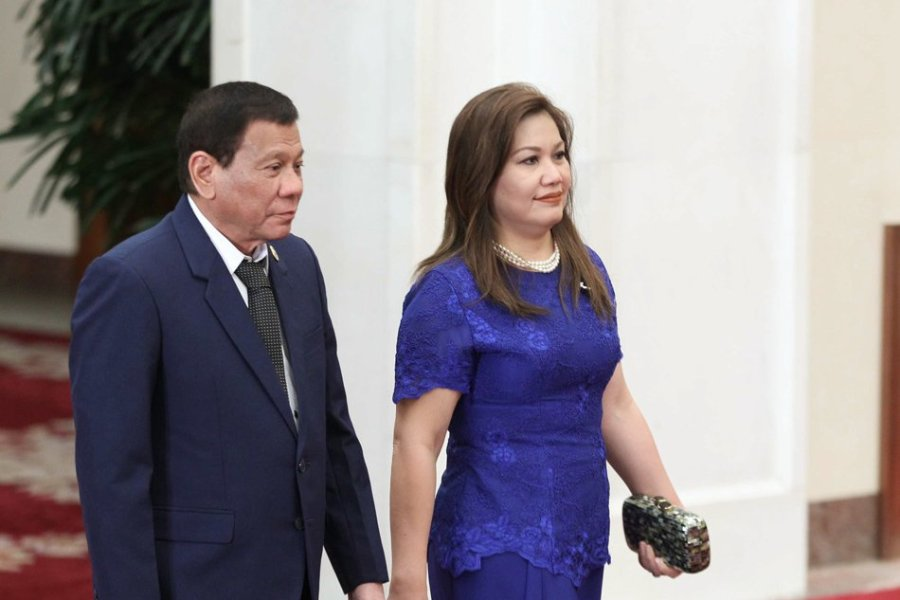 President Rodrigo Duterte and his partner Honeylet Avanceña arrives for welcoming banquet for the Belt and Road Forum for International Cooperation in Beijing, China.