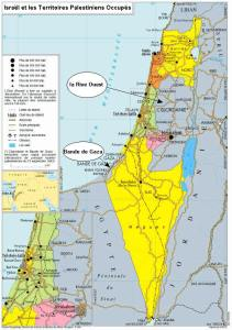 Carte Palestine Israël