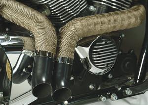 dei titanium exhaust wrap motorcycle