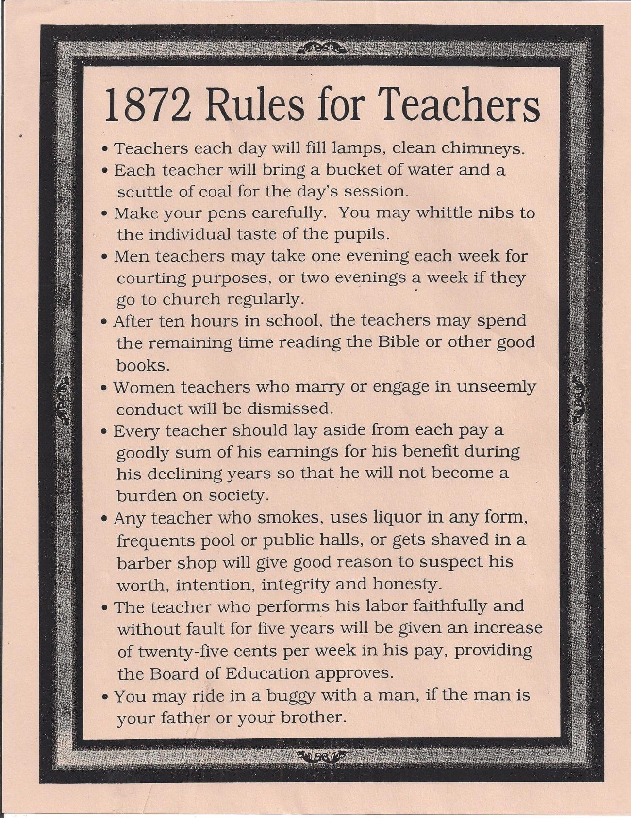 Retro School Rules That Will Definitely Make You Lol