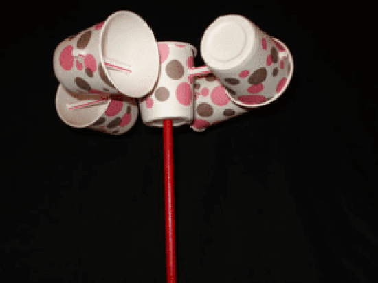 DIY anemometer made from Dixie cups and straws
