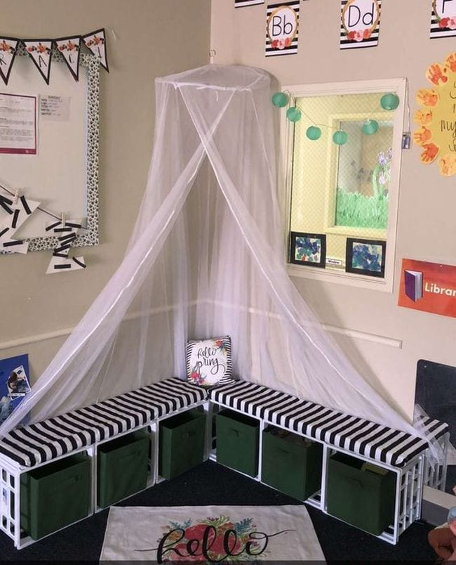 use milk crates in the classroom