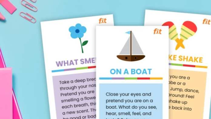 Print these cards to practice mindfulness with kids.