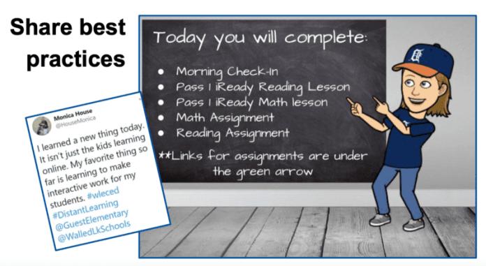 Screenshot of digital learning lesson