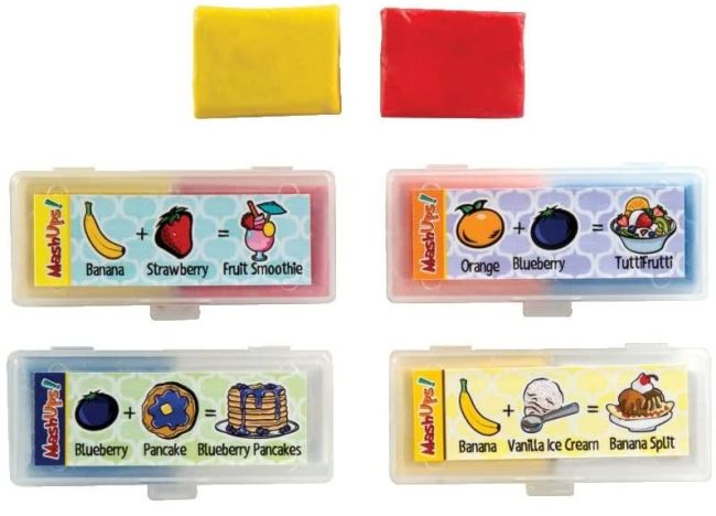 Boxes of fruit-scented colorful kneadable erasers