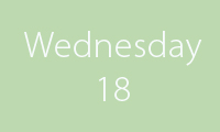 18 Wednesday