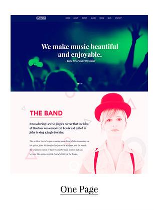 Plantilla de sitio web sensible a la música y la banda - Duotono - 2