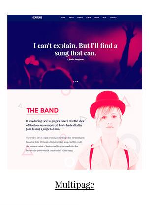 Plantilla de sitio web sensible a la música y la banda - Duotone - 3