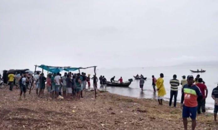 Caso ocorreu em um trecho do Rio São Francisco, no norte da Bahia — Foto: Reprodução/TV São Francisco