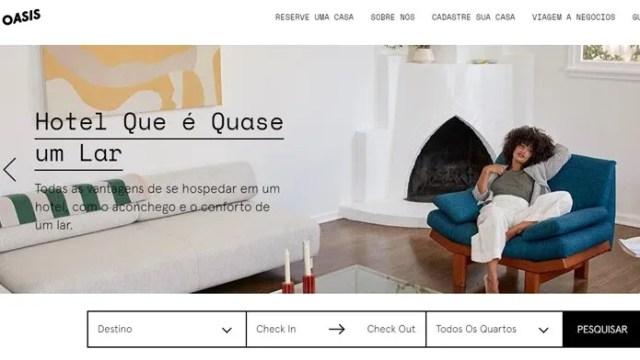 Oasis é mais uma opção de aluguel de casas com estadias sofisticadas (Foto: Reprodução/Clara Barreto)