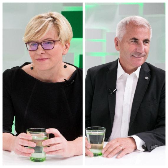 15 min collage / Ingrida Šimonytė and Vygaudas Ušackas