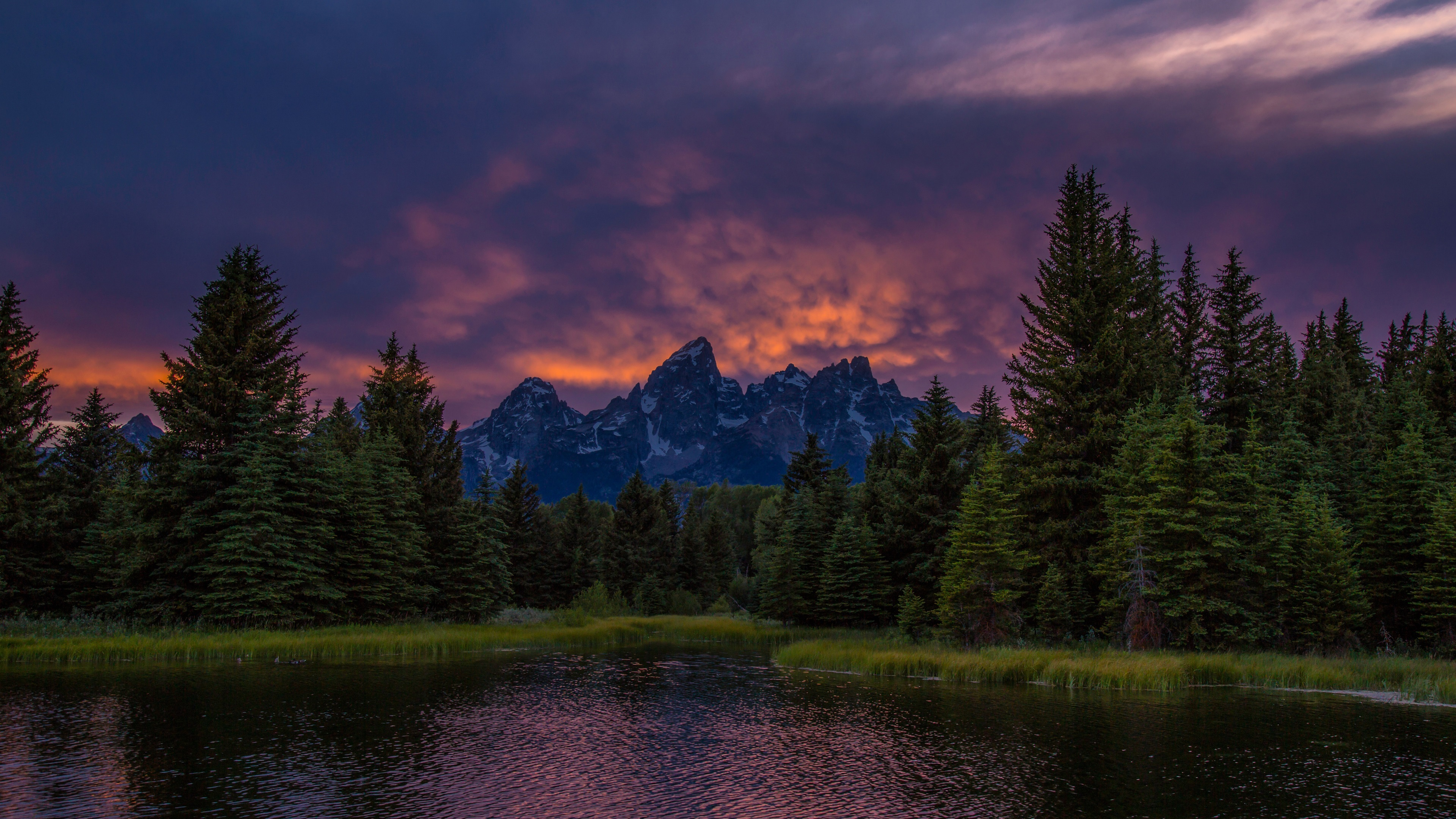 Part of the extensive palos trail system, maple lake includes a mountain bike staging area. Wallpaper Mountains Lake Forest Sunset Sky Clouds Dusk 3840x2160 Uhd 4k Picture Image