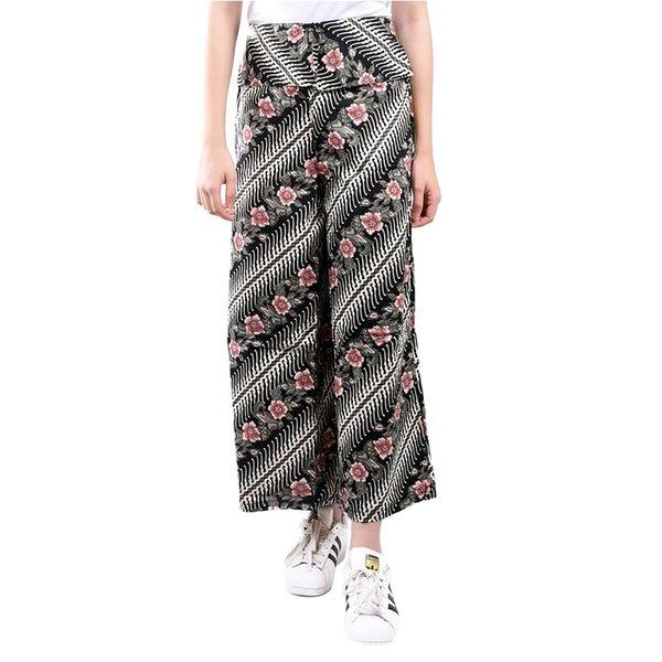 Celana Kulot Wanita Batik Hitam
